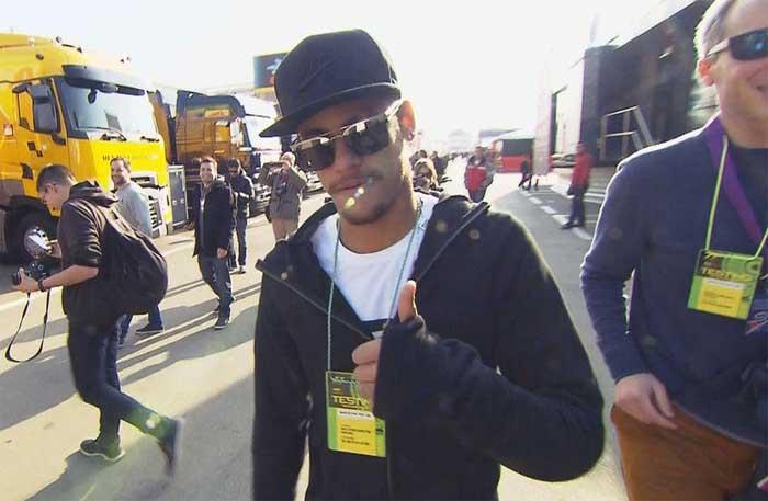 Neymar no circuito de Barcelona