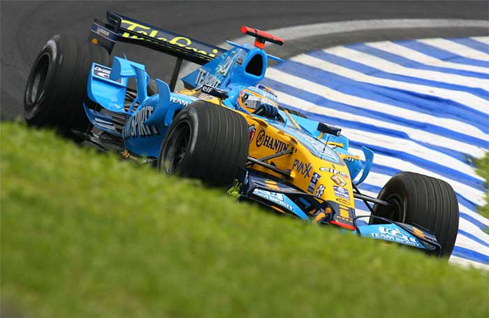 Fernando Alonso na Renault - 2006