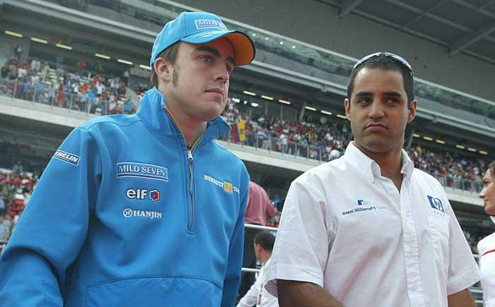 Fernando Alonso e Juan Pablo Montoya