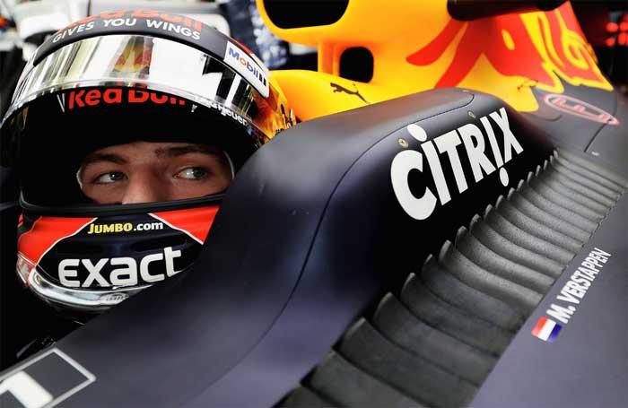 Max Verstappen no Bahrain 2017