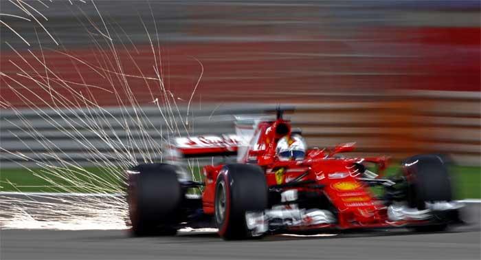 Sebastian Vettel no Bahrain