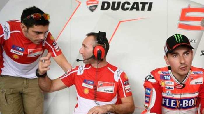 Pirro, Gabbarini e Lorenzo - Ducati