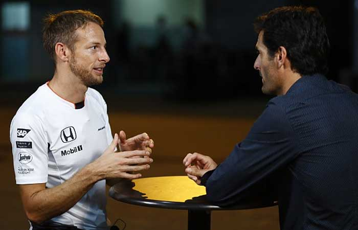 Jenson Button e Mark Webber