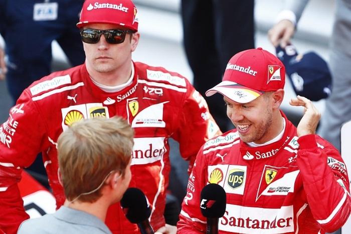 Kimi Raikkonen e Sebastian Vettel