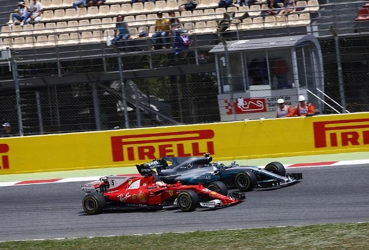 Sebastian Vettel e Valtteri Bottas