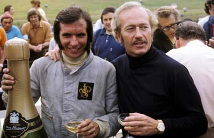 Emerson Fittipaldi e Colin Chapman - Brands Hatch,1972
