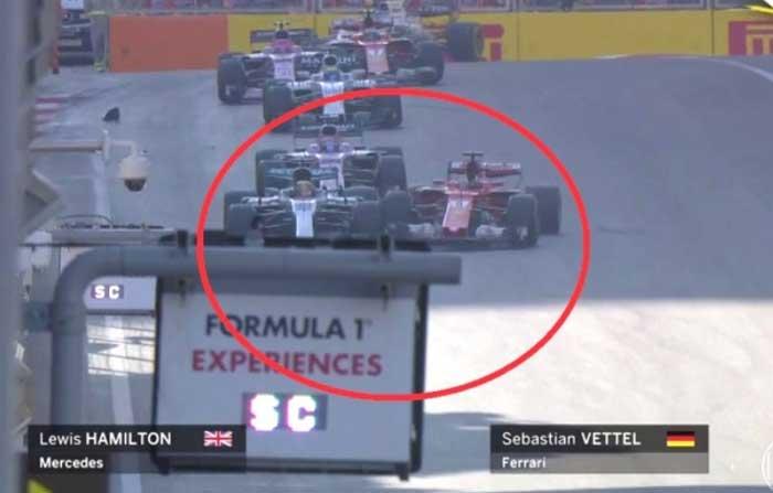 Vettel bate em Hamilton - Baku 2017