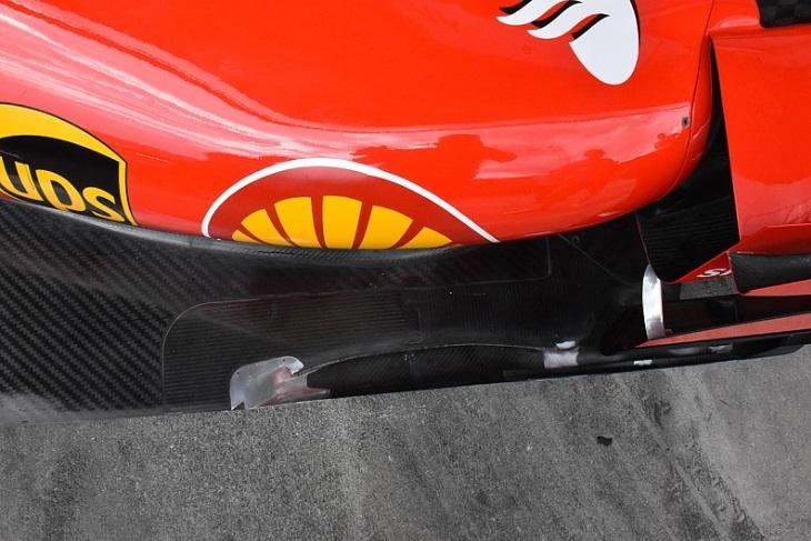 Assoalho da Ferrari SF70H