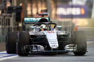 Mercedes testando o halo