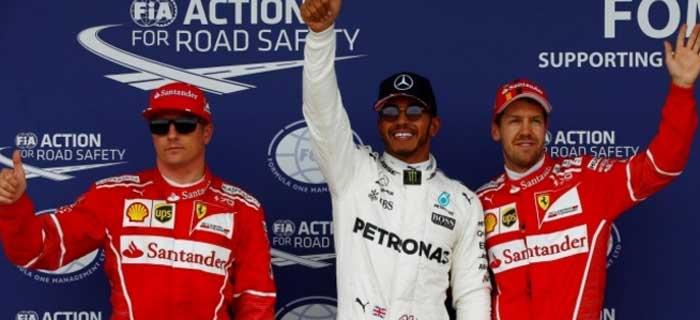 Kimi, Lewis e Seb em Silverstone 2017