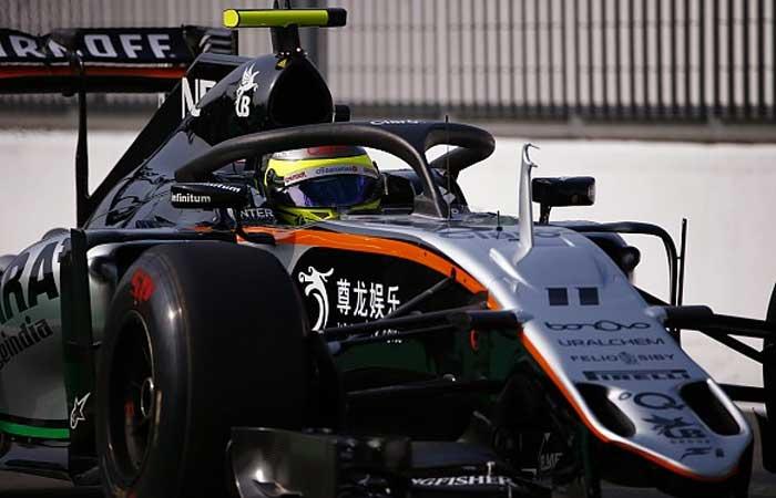 Force India testando o halo em 2016