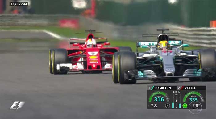 Vettel muito mais rápido que Vettel com DRS