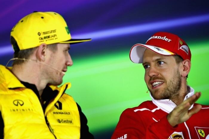 Nico Hulkenberg e Sebastian Vettel