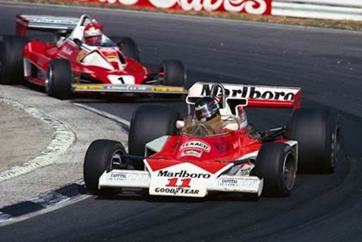 James Hunt e Niki Lauda