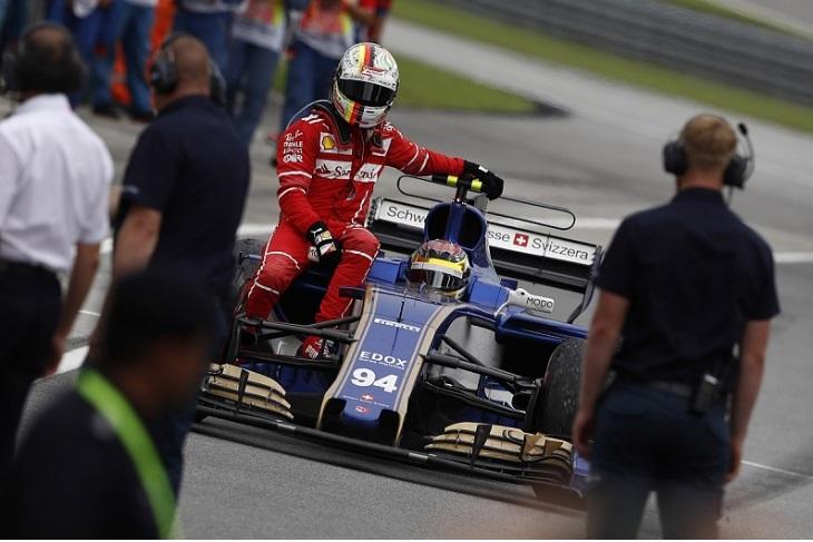 Sebastian Vettel e Pascal Wehrlein