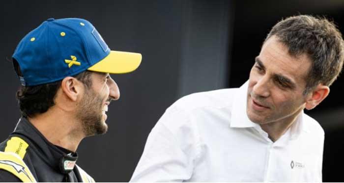 Daniel Ricciardo e Cyril Abiteboul