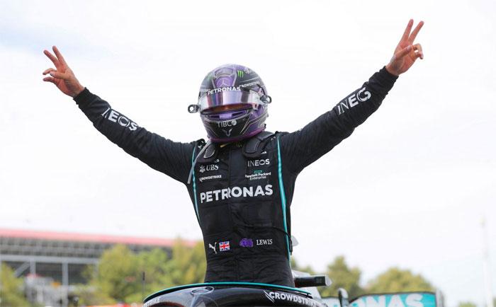 F1 hamilton espanha 2021 celebracao vitoria Vision Art NEWS